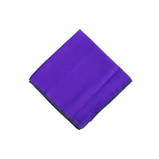 Tom Ford Mens Solid Bright Purple Silk Pocket Square