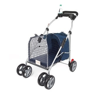 "Kittywalk 5th Ave Luxury Pet Stroller SUV Blue 31 x 16 x 37.5"""
