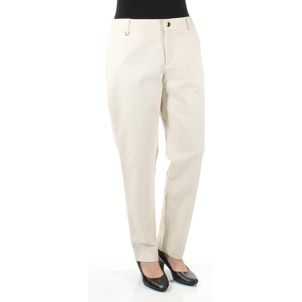 0c66cda04d6bd0 Shop CHARTER CLUB Womens Beige Slim/ Straight leg Wear To Work Pants Size:  6 - On Sale - Free Shipping On Orders Over $45 - Overstock - 21510432
