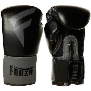 Forza MMA Vinyl Boxing Training Gloves - Black/Gray
