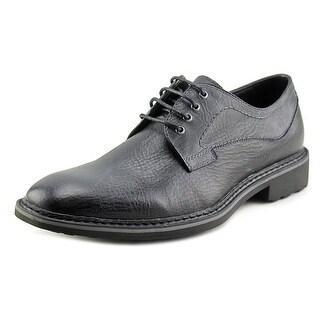 Robert Wayne Aries Men Round Toe Leather Gray Oxford