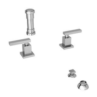 Newport Brass 2049 Secant Double Handle Widespread Bidet Faucet with Vacuum Breaker and Metal Lever Handles