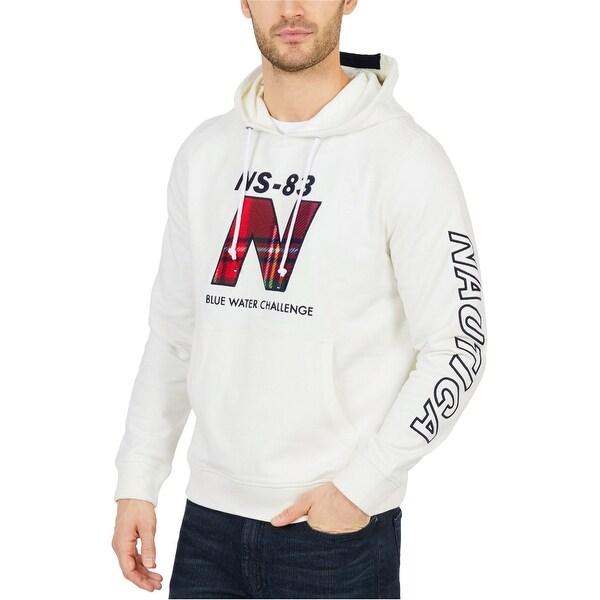 Nautica Mens Classic Fit Logo Hoodie Sweatshirt. Opens flyout.