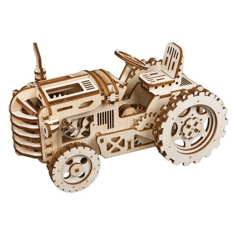 "DIY 3D Wooden Mechanical Gears Kit - Tractor - 9.4x4.65x9.4"""