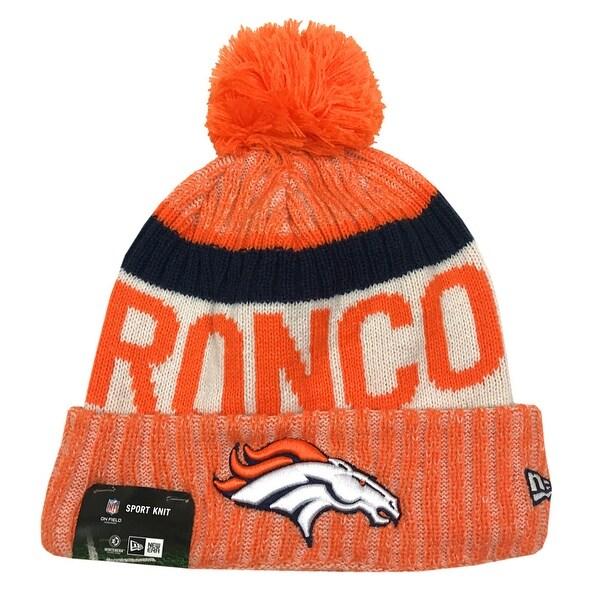 Broncos Stocking Hat: Shop New Era Denver Broncos Knit Beanie Cap Hat NFL 2017