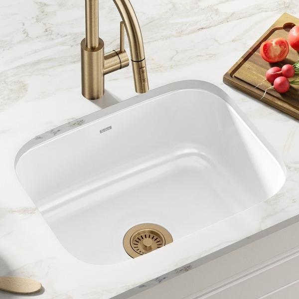 KRAUS Pintura Enameled Stainless Steel 23 inch Undermount Kitchen Sink. Opens flyout.