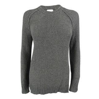 Rachel Roy Women's Open-Back Wool-Blend Knit Sweater - medium grey heather|https://ak1.ostkcdn.com/images/products/is/images/direct/c3217d2d216387d16d24177301dad5210857d80d/Rachel-Roy-Women%27s-Open-Back-Wool-Blend-Knit-Sweater.jpg?impolicy=medium