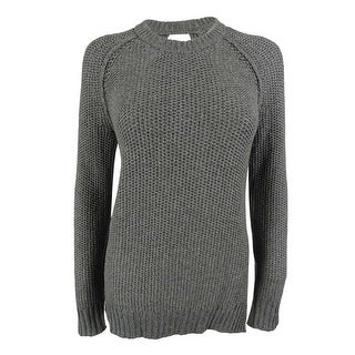 Rachel Roy Women's Open-Back Wool-Blend Knit Sweater - medium grey heather