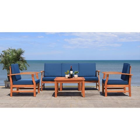 Safavieh Outdoor Parcer 4-Piece Patio Set
