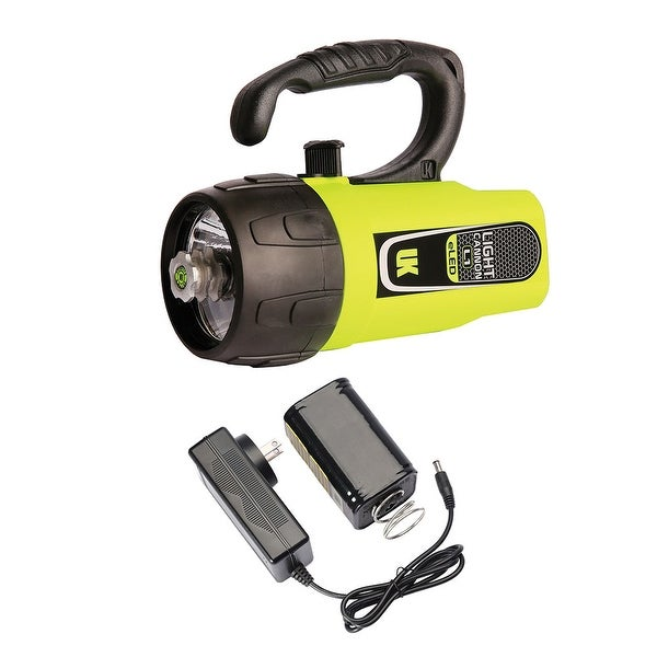 UK Light Cannon eLED (L1) w/ NiMH Battery/Charger, Lantern Grip, Box Dive Light - Yellow