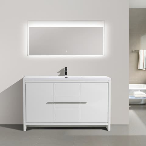 Alma-Allier 60-inch Freestanding Vanity with Integrated Sink