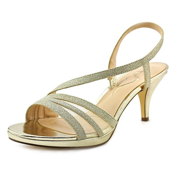 Nina Nelda Women Open Toe Synthetic Gold Sandals