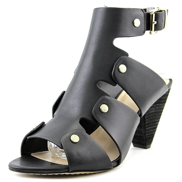 Vince Camuto Ekerd Women Open Toe Leather Black Sandals