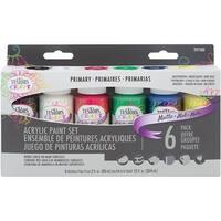 Testors Craft Acrylic Paint Set 6/Pkg-Primary Matte