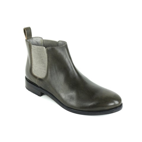 Brunello Cucinelli Distressed Green Chelsea Ankle Boots