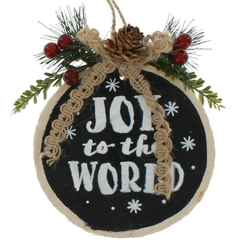 Joy to the World Chalk Log