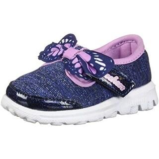 Skechers Go Walk Bittyflies Navy/Multi Infant Girls Casual Sneaker Size 9M