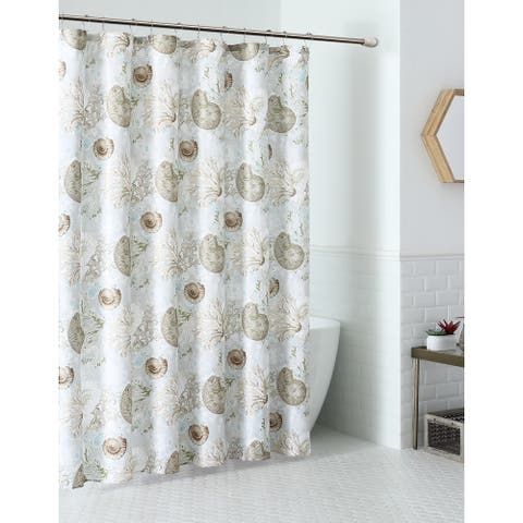 Aberdeen Seashell Coastal Shower Curtain Set