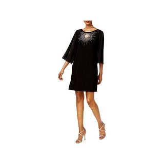 MSK Womens Petites Cocktail Dress Embellished Keyhole Front