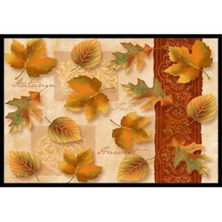 Carolines Treasures PTW2001MAT Fall Autumn Leaves Indoor & Outdoor Mat 18 x 27 in.