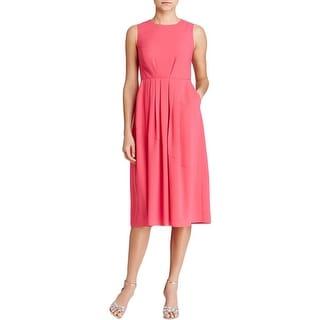 Shoshanna Womens Casual Dress Pleated Sleeveless - 2