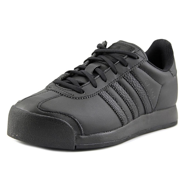 Adidas Samoa J Youth Round Toe Synthetic Black Sneakers