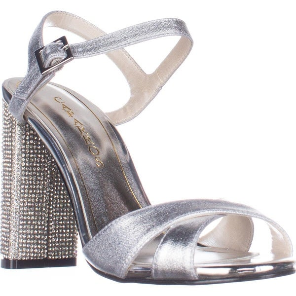 Caparros Hayley Ankle Strap Dress Sandals, Silver Matallic