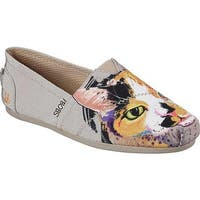 Skechers Women's BOBS Plush Paw-Fection Callie Alpargata Taupe