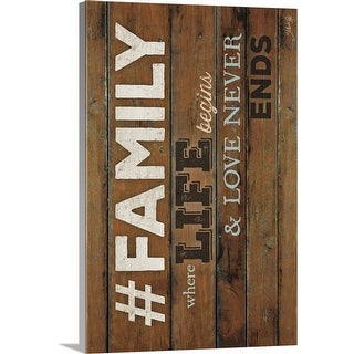 """FAMILY - Where Life Begins"" Canvas Wall Art"