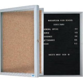 AARCO Products EBC2418 Economical Enclosed Bulletin Board Cabinet