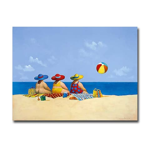 Three Ladies Sunning by Michael Paraskevas Gallery Wrapped Canvas Giclee Art (18 in x 24 in)