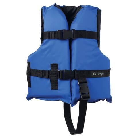 Onyx nylon child life jacket blue