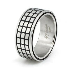 Stainless Steel Tiled Ring