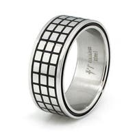 Stainless Steel Tiled Ring