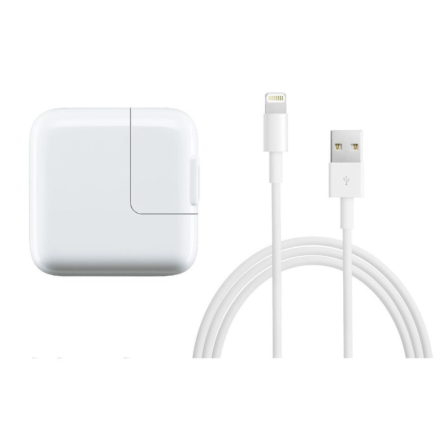 Apple 12W USB Fast Power Adapter with 1 Meter Lightning Cable for iPhone \u0026  iPad , White