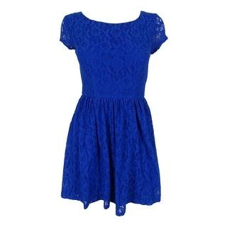 B Darlin Juniors' Lace Dress