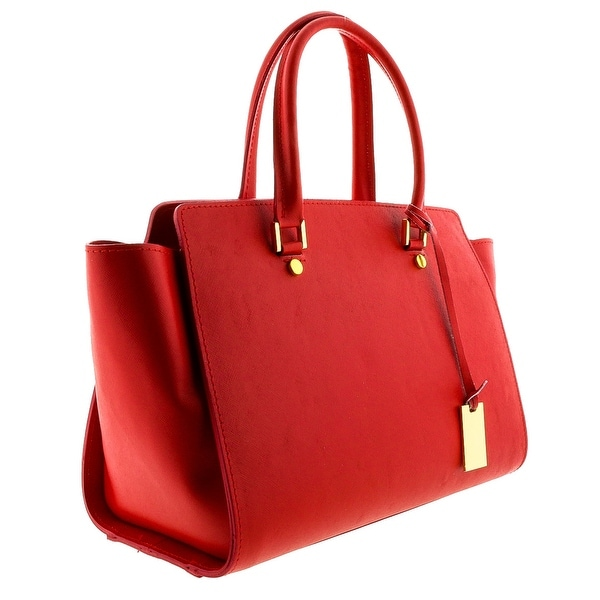 HS2060 RD GHITA Red Leather Satchel/Shoulder Bag - 13-10-5