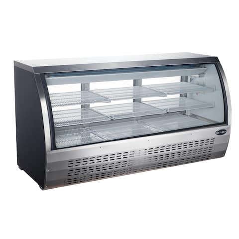 "SABA SCGG-78 - 82"" Curved Glass Commercial Deli Case"