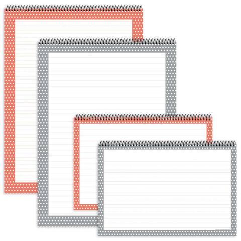 Assortd Polka Dot Chart Tablets 4Pk