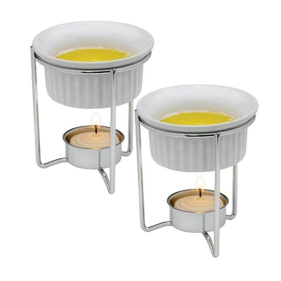 HIC 43678 Butter Warmers, Ceramic, Set of 2