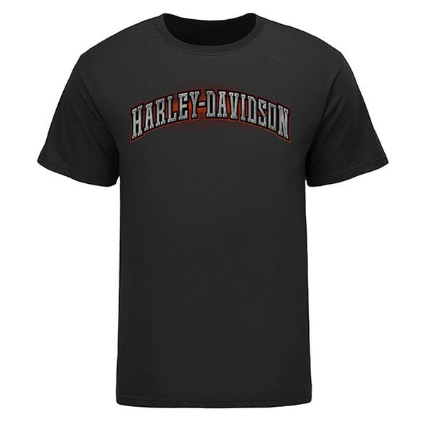 Harley-Davidson Men's Screamin' Eagle Fiery Short Sleeve Tee, Black HARLMT0276