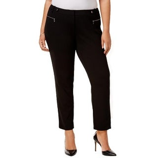Calvin Klein Womens Plus Straight Leg Pants Straight Leg Stretch - 22W