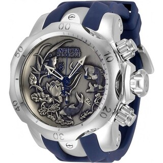 Link to Invicta Men's 33353 'Reserve' Venom Blue and Silver Stainless Steel Watch - Black Similar Items in Men's Watches
