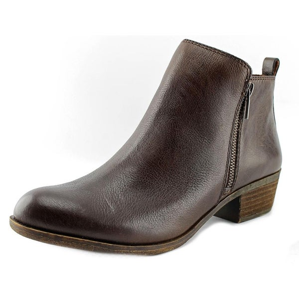 Lucky Brand Basel Women Round Toe Leather Brown Ankle Boot