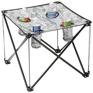 Maxam Digital Camo Small Camp Table