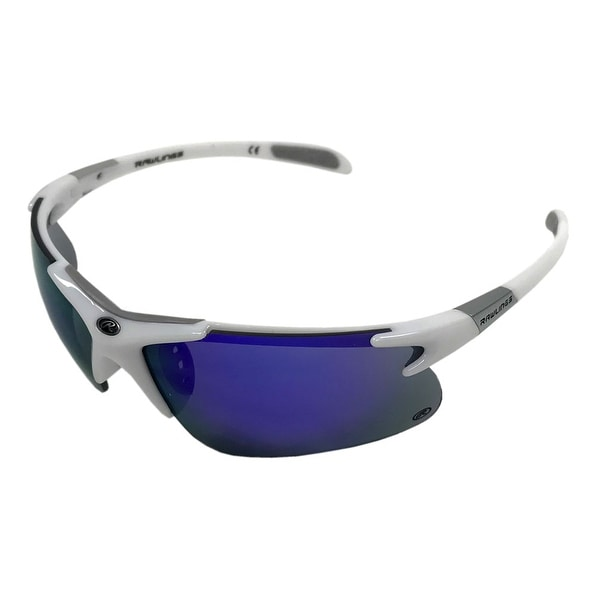 b1a9e9500e Shop Rawlings Men s Athletic Sunglasses 3 RV White Blue Mirrored Lens  10218019.QTS - White - Adult - Free Shipping On Orders Over  45 - Overstock  - 21162417