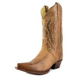 Removing cowboy boots to show soles 3