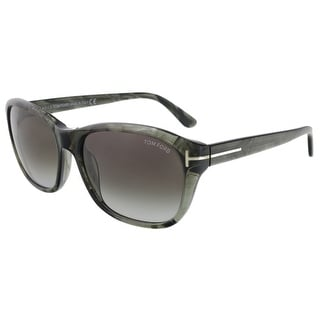 Tom Ford FT0396/S 20B London Olive Horn Rectangle Sunglasses