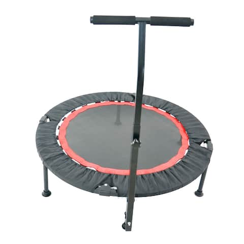 """Global Pronex Trampoline for Adults or Kids with Safety Pad Max Load 300lbs - 40""""W"""