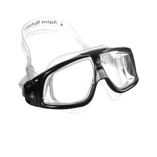 Aqua Sphere Seal 2.0 Clear Lens Swim Goggle Mask - Black/Silver